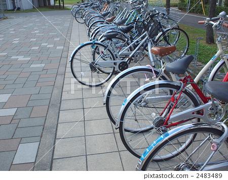 parking lot, bicycle, bike 2483489