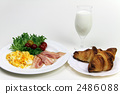 牛奶 羊角麵包 西餐 2486088