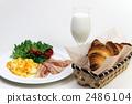 西餐 牛奶 羊角麵包 2486104