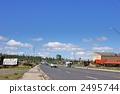 Tasayan區的高速公路在大峽谷的中心 2495744