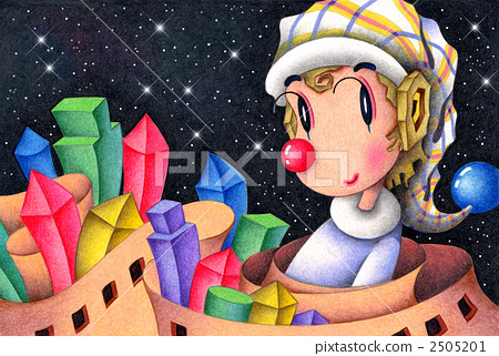 Romantic Clown - Town of building blocks 2505201