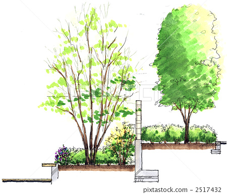 Section sketch in the courtyard 2517432