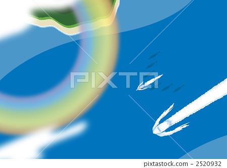 무지개의 가설 바다에서 돌고래와 함께 크루즈 2520932