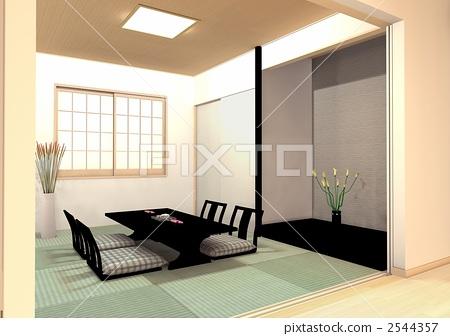 Modern Japanese style room 2544357