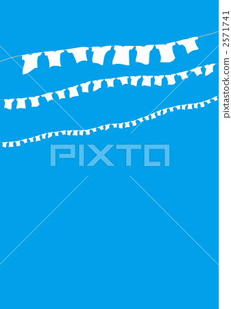Blue sky and T-shirt 2571741