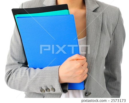 Businesswoman with files (Body parts) 2573173