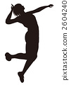 Volleyball spike revision (silhouette) 2604240