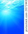 수중, 배경, 밝은 2672443