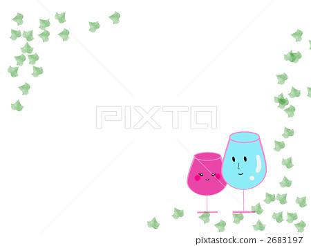wine glass, wineglass, cup 2683197