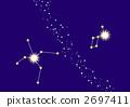알타이르와 베가와 은하수 (별자리 선 진입) 2697411