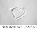在雪的心臟標記 2727563