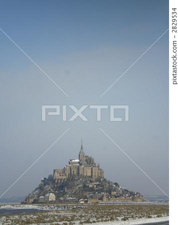mont st michel, landscape, scenery 2829534