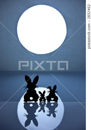 兔子家庭月光圖像 2832462