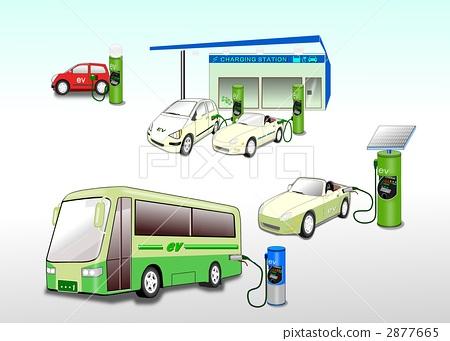 ev 전기 자동차 버스와 충전 스탠드 - 스톡일러스트 2877665 - PIXTA