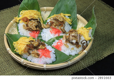 """Four dishes of local cuisine """"Bamboo shoot"""" 2891663"""