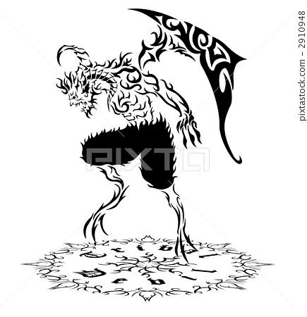 Devil's Tribal 2 (Black & White - White) 2910948