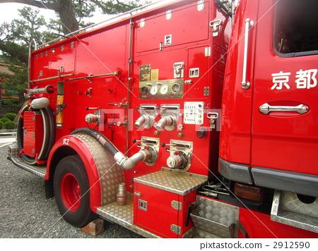 Stock Photo: automobile, firetruck, fire-engine