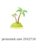 무인도, 야자나무, 야자 2932719