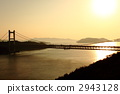 Seto Ohashi Bridge of the setting sun 2943128