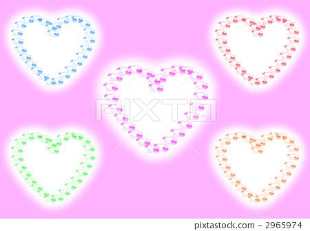 心臟的框架五種顏色 2965974