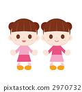 雙胞胎女孩 2970732