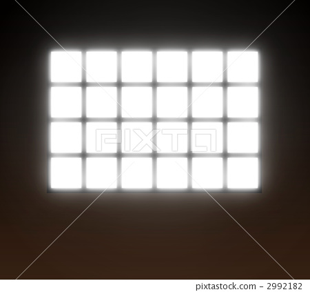 Window with light inserted 2992182