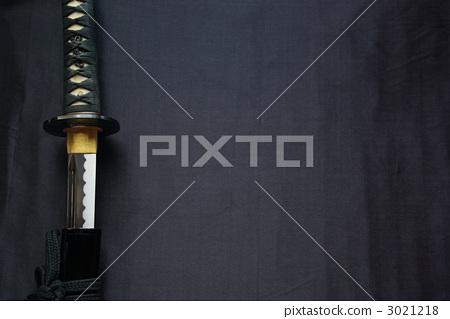 사정 내기의 거합 연습 칼과 복사 공간 (가로) 3021218