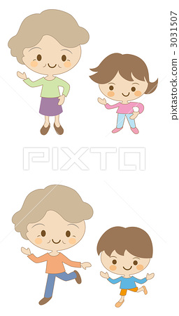 祖母和孫子 3031507
