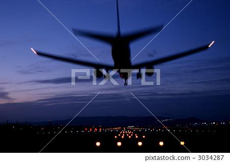비행기, 일몰, 이륙 3034287