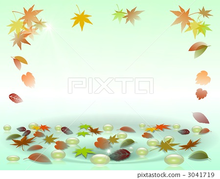 Autumn leaves and soap bubbles 3041719