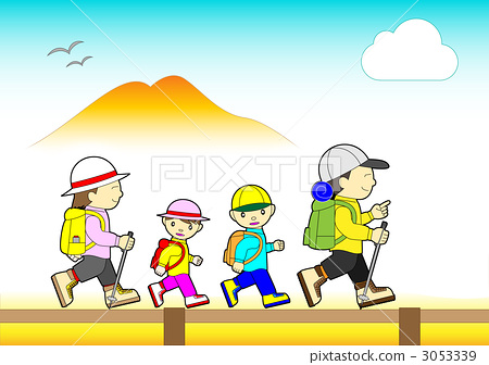 Families enjoying hiking 3053339