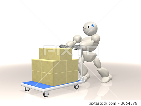 CG illustration expressing the shipping business 3054579