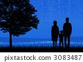 父母和小孩 親子 夜空 3083487