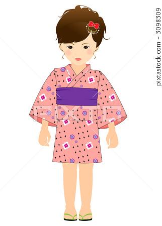 Girls in a yukata figure 3098309