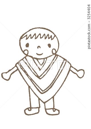 folk costume, sketch, sketches 3254404