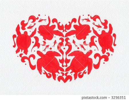 바다 동물, 해양 동물, 손그림 3256351