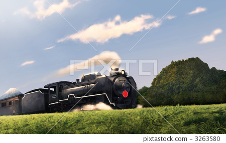 Steam locomotives and Mt. Fuji 3263580