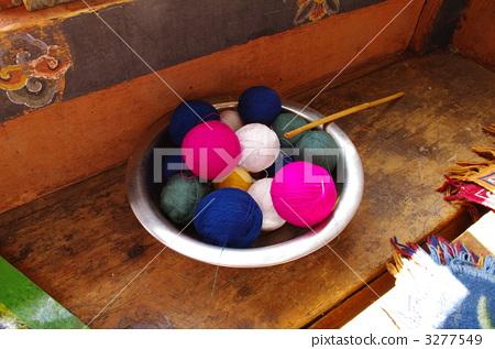 ball of wool, bhutan, bowl 3277549