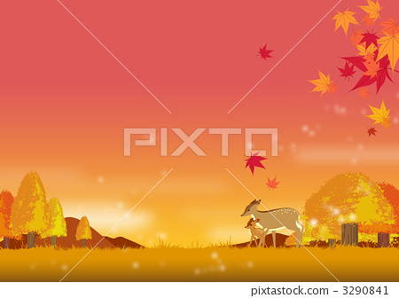 Deer and fall landscape 3290841