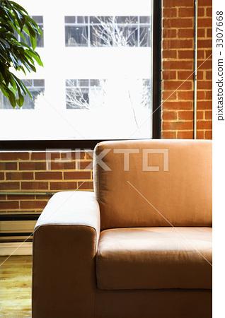 Chair in loft apartment. 3307668