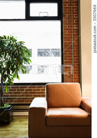 Chair in loft apartment. 3307669