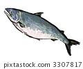 秋天三文鱼Sumire艺术例证 3307817