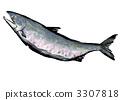 秋天三文鱼Sumire艺术例证 3307818