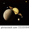 Planets in outer space. 3310064