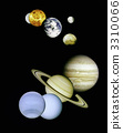 Planets in outer space. 3310066