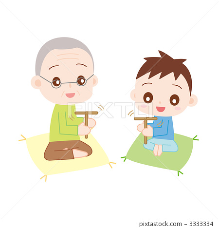 Play with grandpa and grandson Takebo dragonfly 3333334