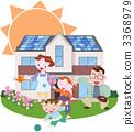 爸爸 太陽能發電 太陽能 3368979