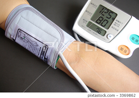 Blood pressure measurement with upper arm digital blood pressure monitor (with numerical value) 3369862