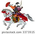 Sengoku warrior riding a horse 3373915