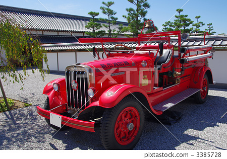 Stock Photo: fire-engine, firetruck, yamaguchi prefecture